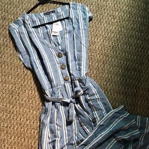 Abercrombie & Fitch jumpsuit blue stripe